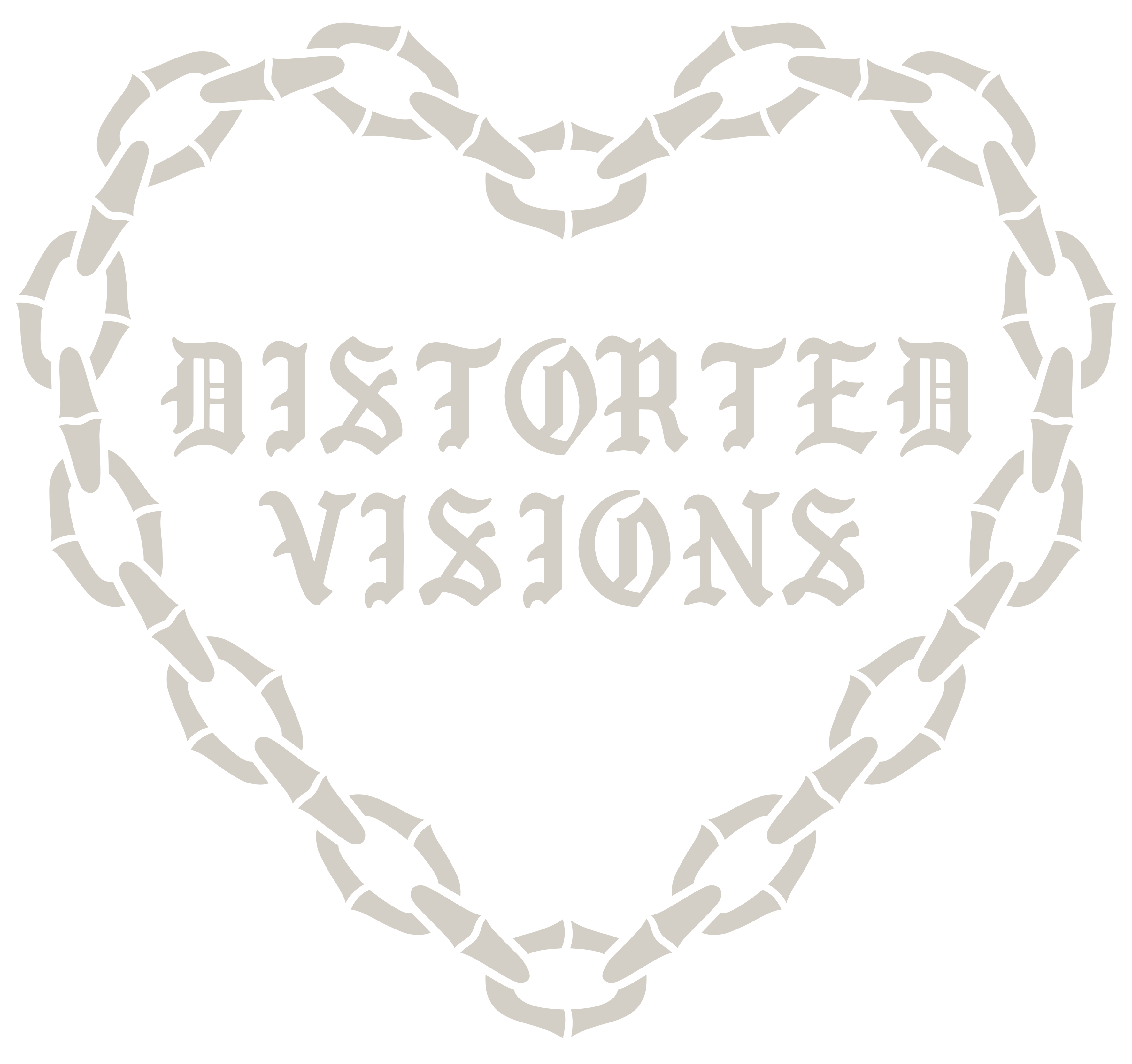 DISTORTED VISIONS - TEES BLACK [FRONT]
